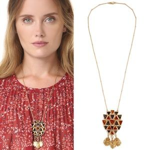 Tory Burch Gold Boho Triangle Pendent Necklace